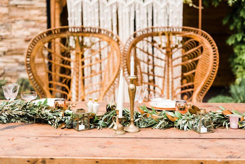 Vintage & Boho Kestrel Park Wedding Head table - Santa Ynez, CA