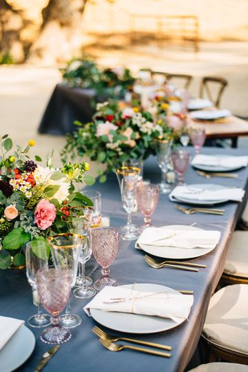 Wedding reception & table decor