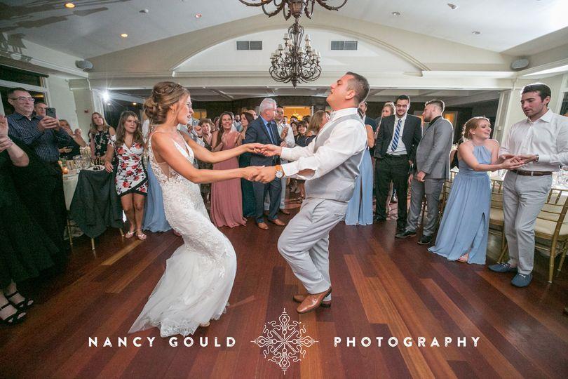 Couple dancing the night away