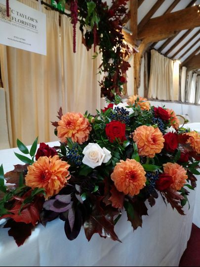 Top Table Autumnal