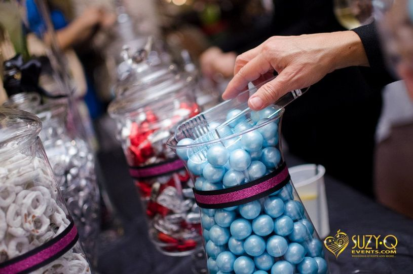Guests will have a blast choosing their own candies from your candy buffet