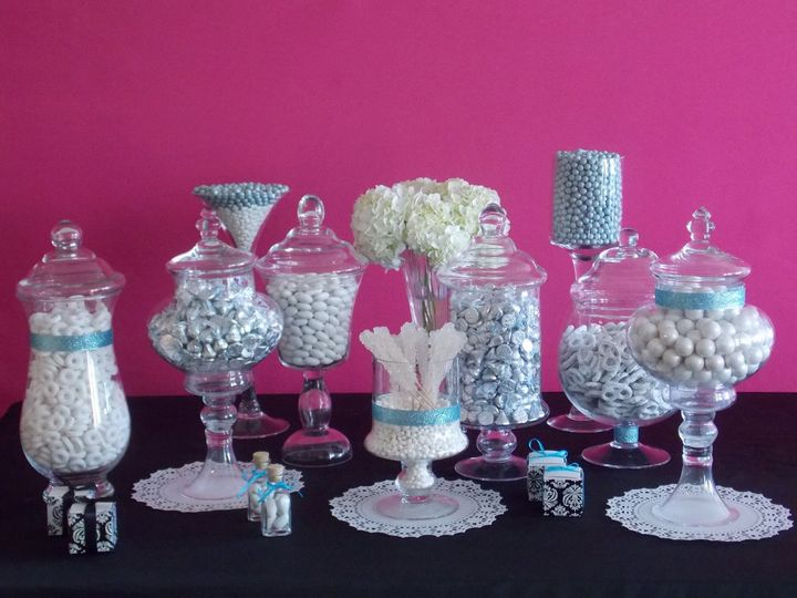 Candy Cafe Candy Buffet for a Bridal Shower in Palm Beach.