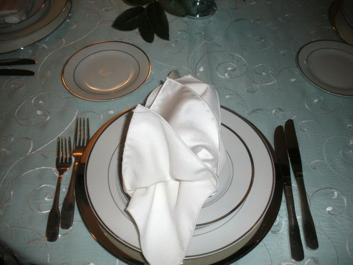 Tmx 1379596999975 Place Setting Blue 2 Clifton Heights wedding catering