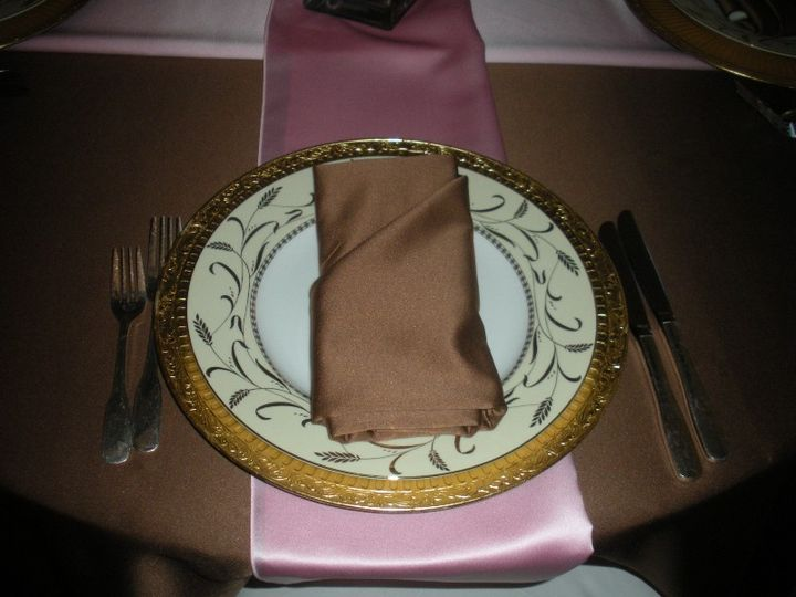 Tmx 1379597008958 Place Setting Brown Pink Small Clifton Heights wedding catering