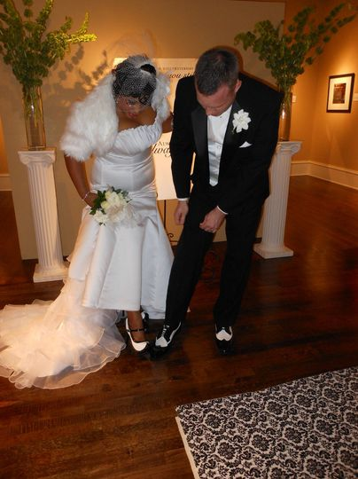 Newlyweds and their shoes