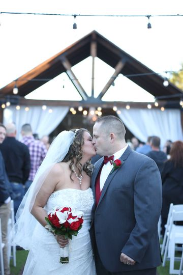 Kisses after ceremony