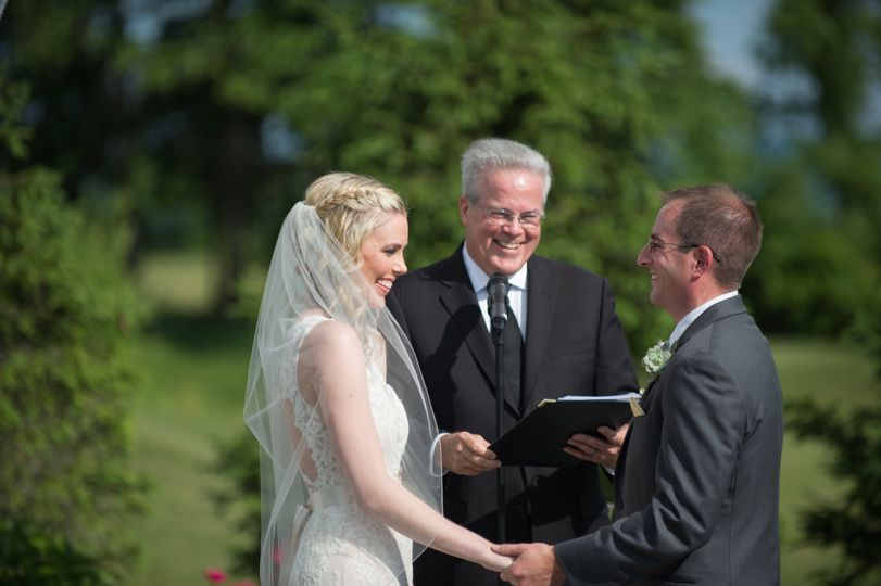 Officiant of the wedding ceremony