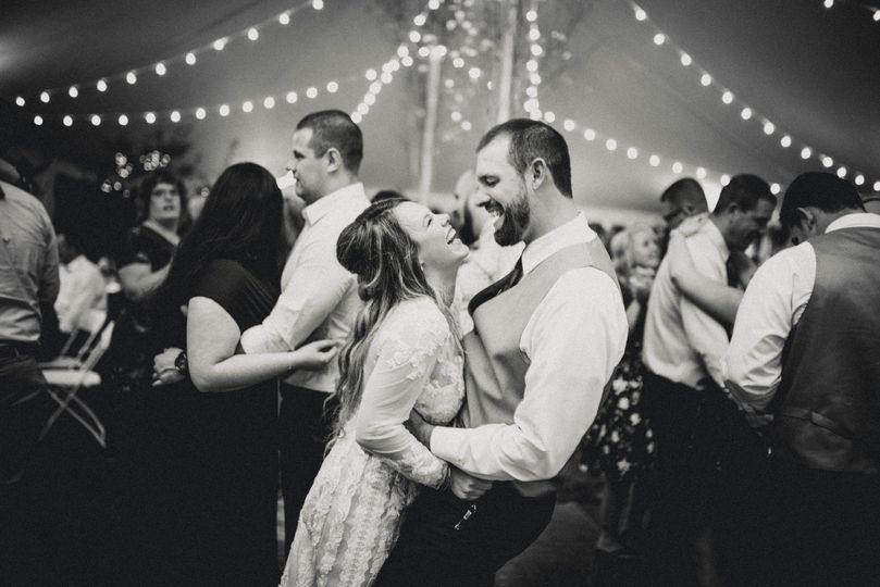 Couple laughing wildly