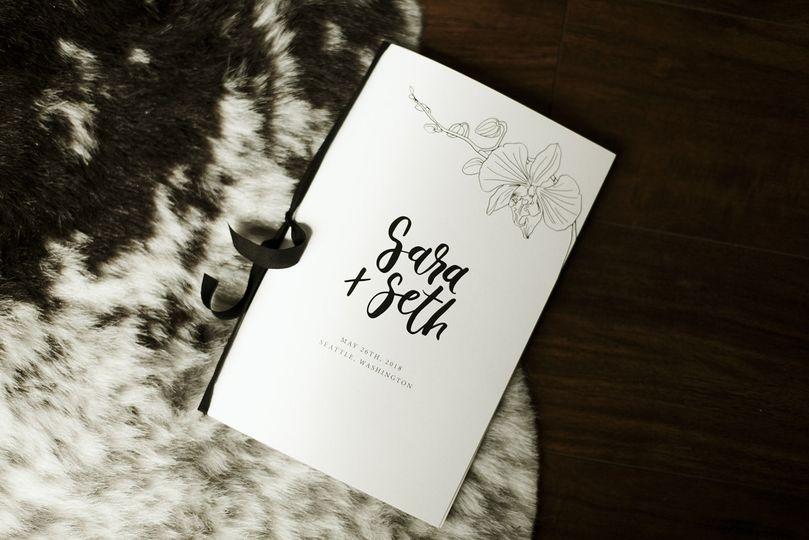 Sablewood Paper Company Invitations Seattle Wa Weddingwire