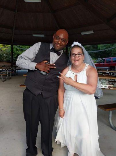 Bride and DJ