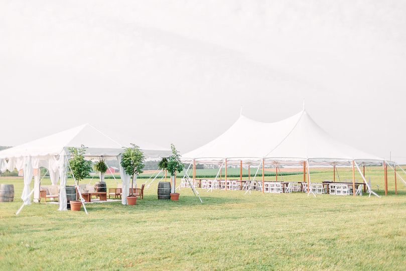 The lounge tent is a great extra space to wow your guests