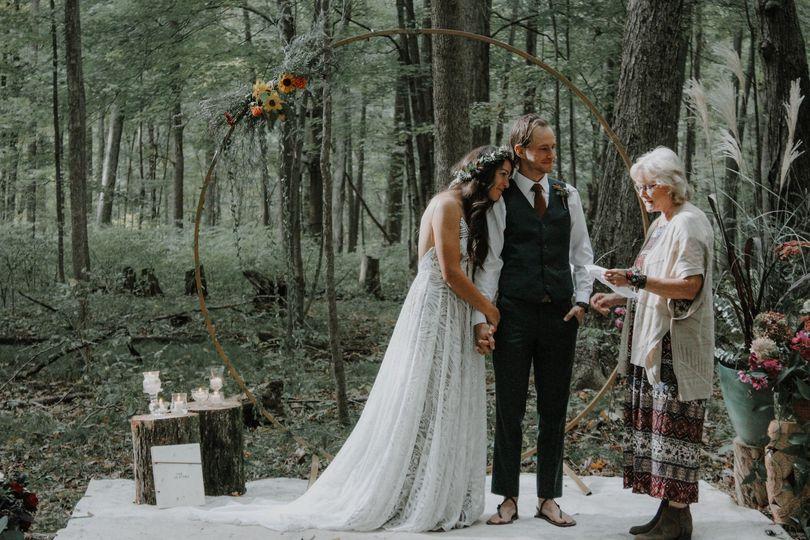 Woodsy wedding still