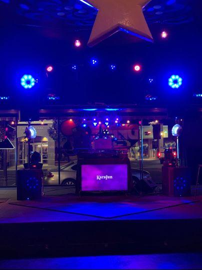 Lights on the dance floor
