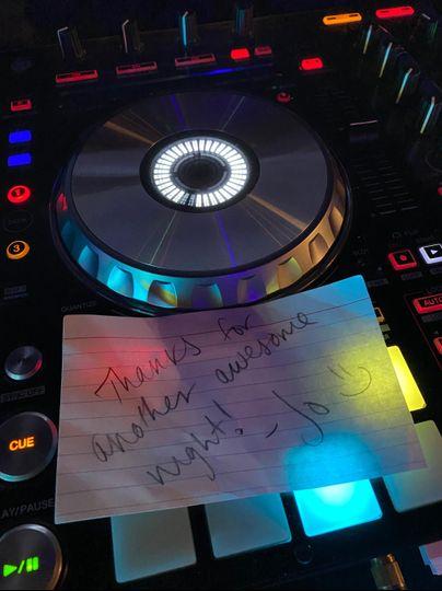 A note of appreciation