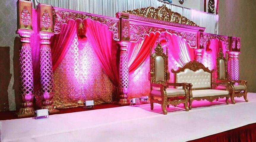 Pink and gold setup