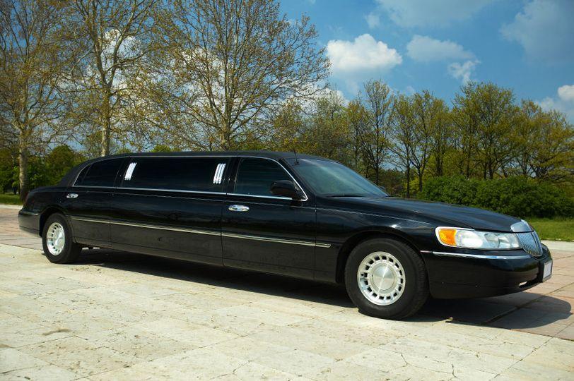 black limousine in park