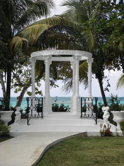 Wedding gazebo at Beaches Negril