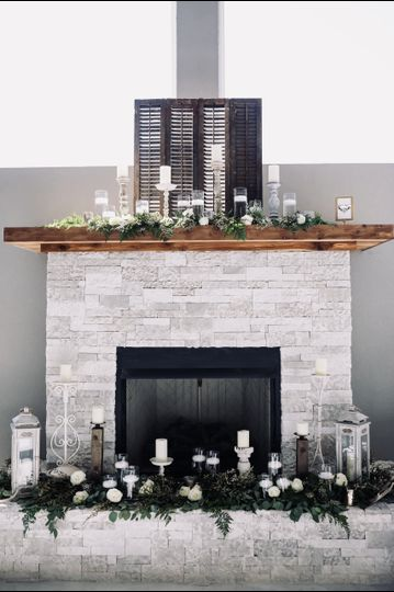 Fireplace set up