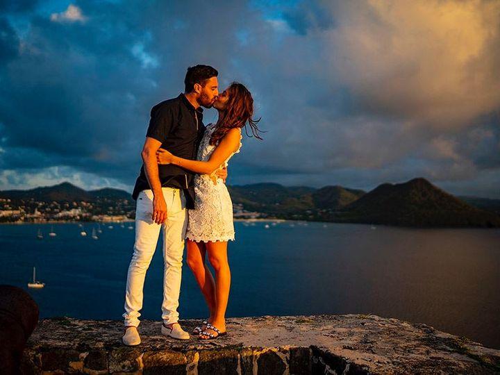 Tmx Saint Lucia Couple Kissing At Sunset 2 51 644219 1567812441 Gonzales, LA wedding travel