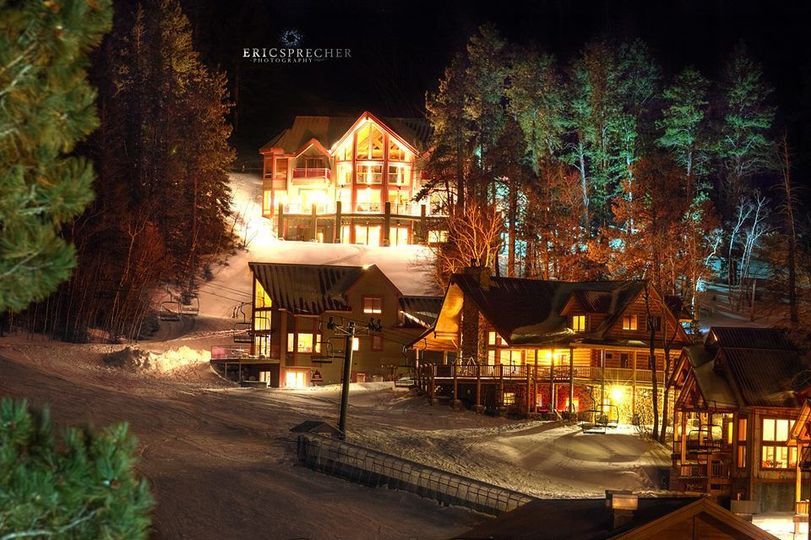 Chalets at Night