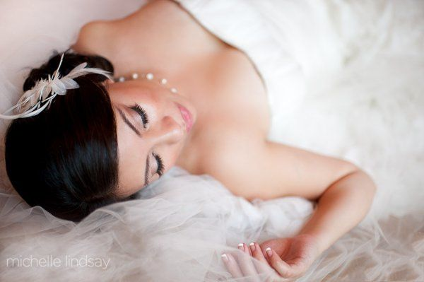 Bride laying down