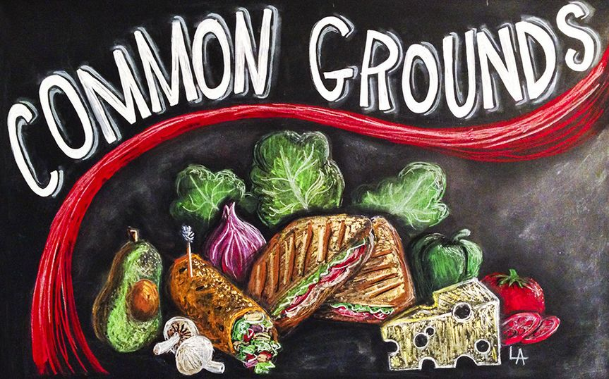 Chalkboard menu illustration - Common Grounds, Spearfish, SD