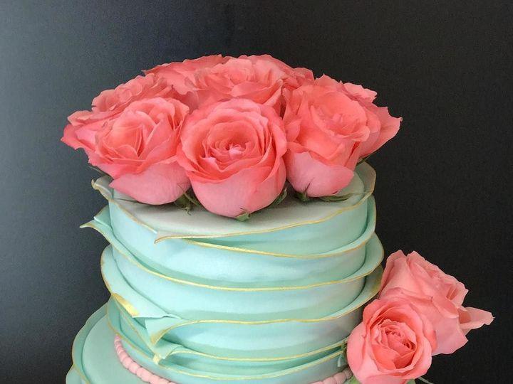 Tmx 1517762396 E733a7f1bba1829a 1517762395 62fe54d559b1d8f7 1517762395699 1 2tiertealrufflesco Denver wedding cake