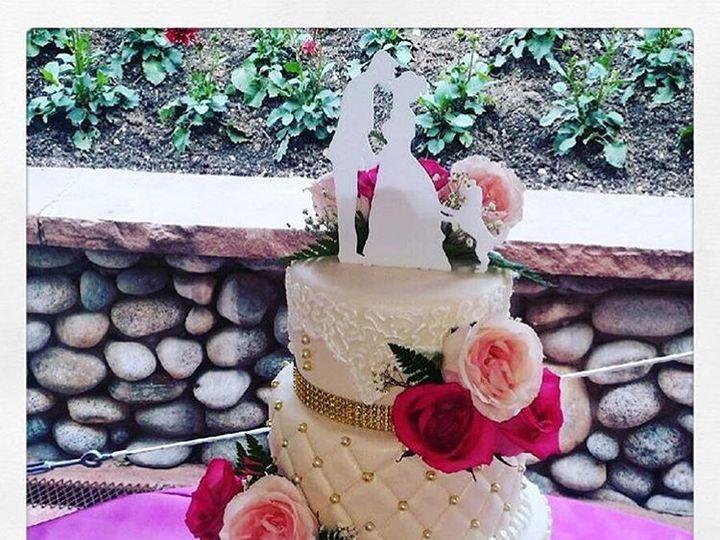 Tmx 1517763251 083b4657c7d92272 1517763250 6826444165cbbaa5 1517763250029 5 FondantWedding4tie Denver wedding cake