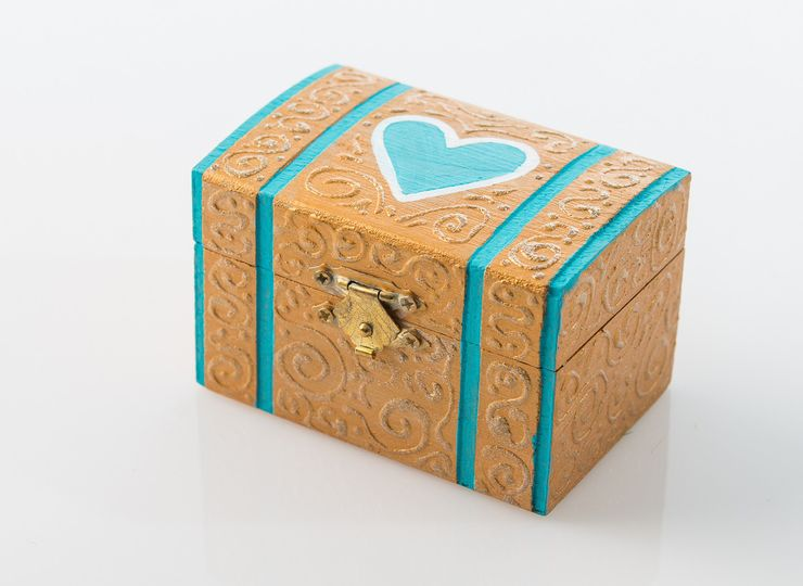 This box is completely hand crafted by a Puerto Rican artist. The blue heart represents true love of...