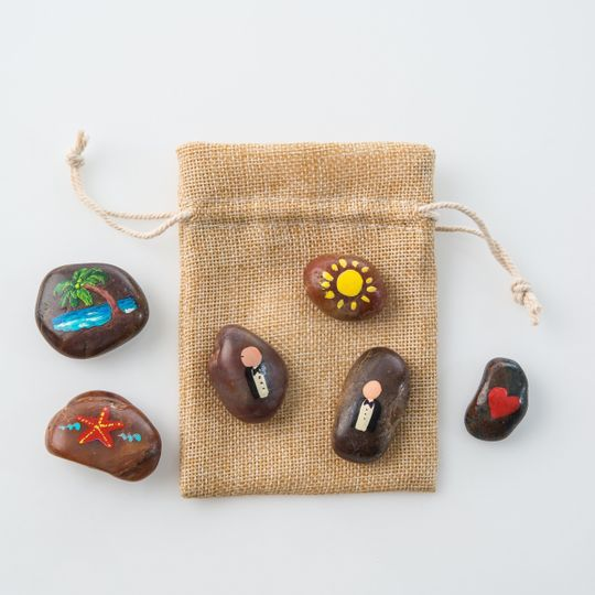 Our Love Story Stones - Gay weddings are legal in Puerto Rico.  This is how you want everybody to...