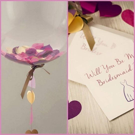 Will you be my bridesmaid?   Customized bubble balloon to ask your dearest loved one to be part of...