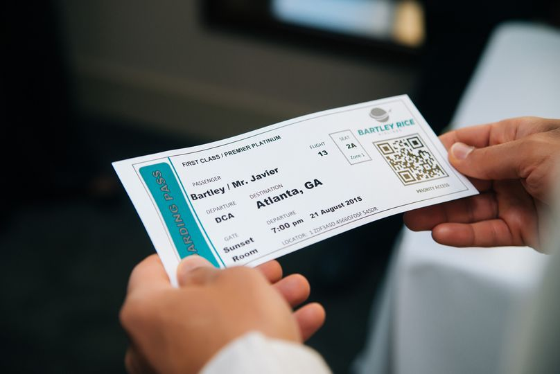Guest received boarding passes