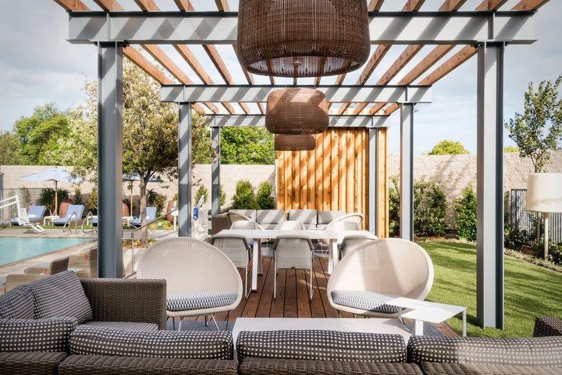 Poolside patios