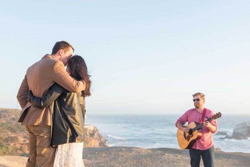 Singing by the ocean