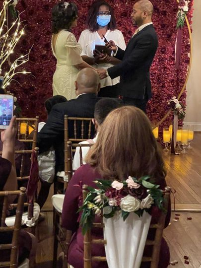 An in-home microwedding