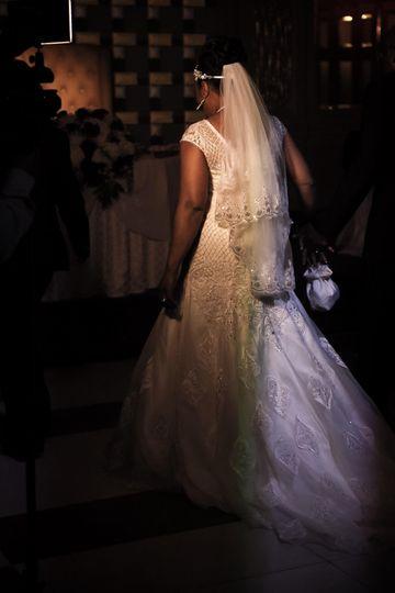 Ornate and elegant bridal veil