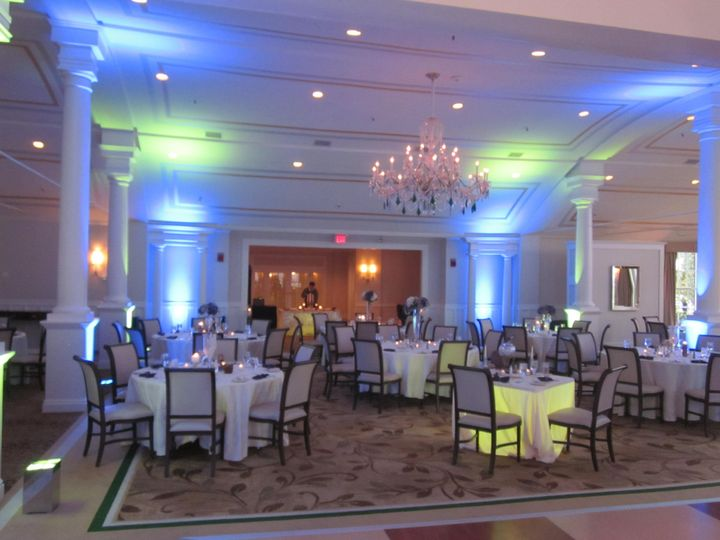 Blue wedding uplights