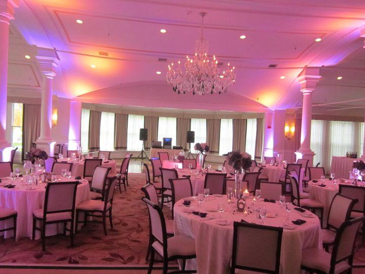 Pink wedding uplights