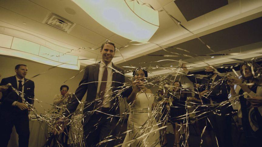Sasha and Dylan's wedding exit