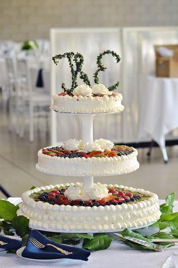 Cheesecake Wedding Cake Topped with Glazed Fruit
