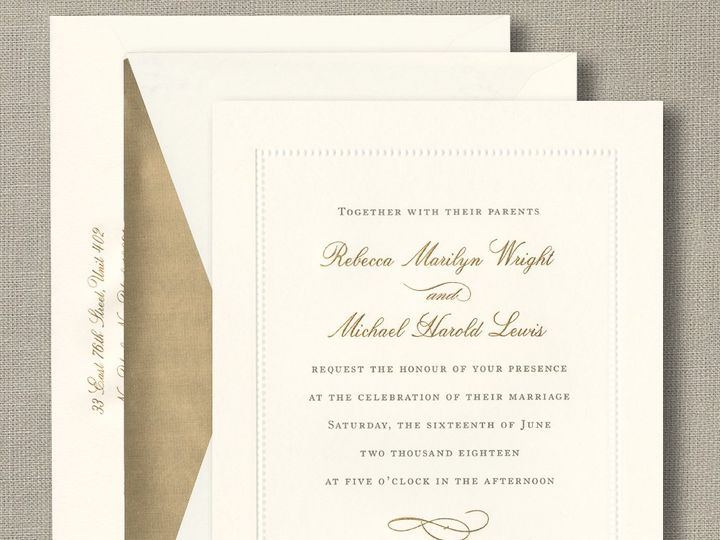 Tmx Ecru Beaded Border 51 148319 160071240323715 Beverly, MA wedding invitation
