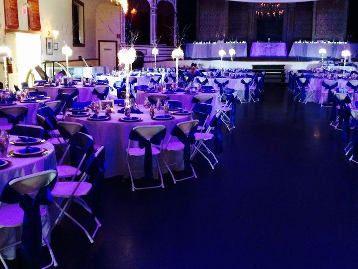 Reception hall lighting