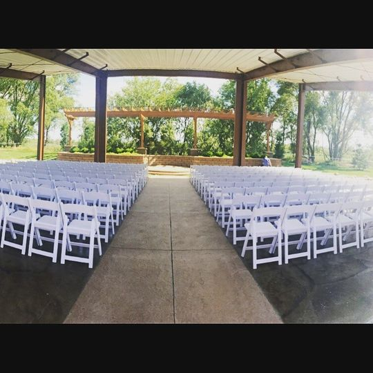 A View on State's Ceremony Pavilion can accommodate up to 400 guests.