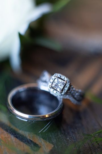 The bride and groom's ring