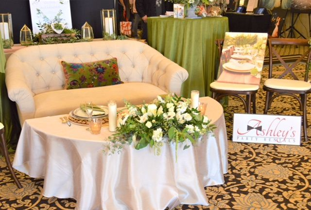 Sweetheart table and couch