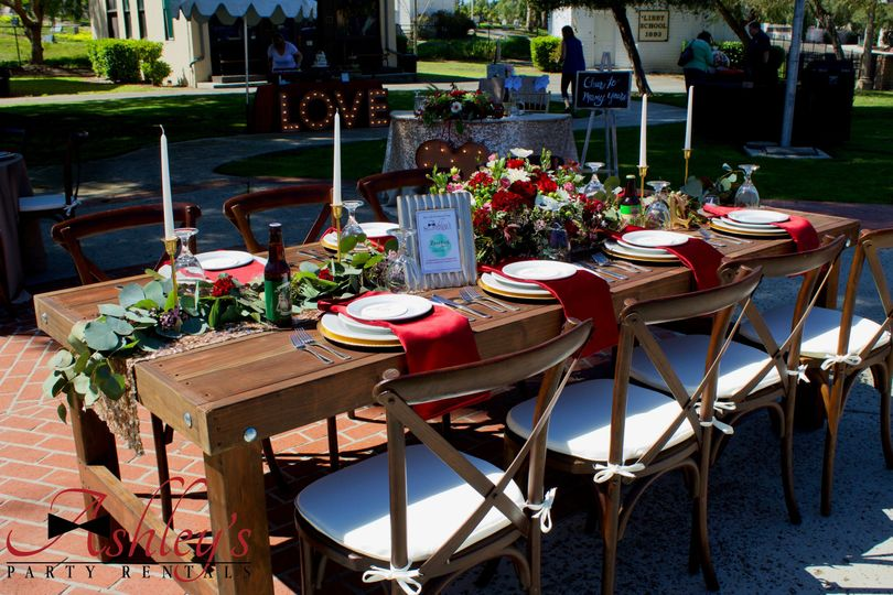 8' wooden farm table