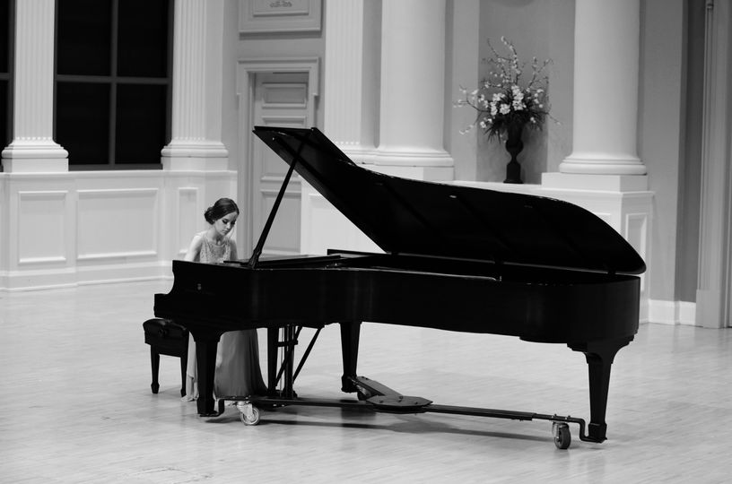 Black and white solo performance recital