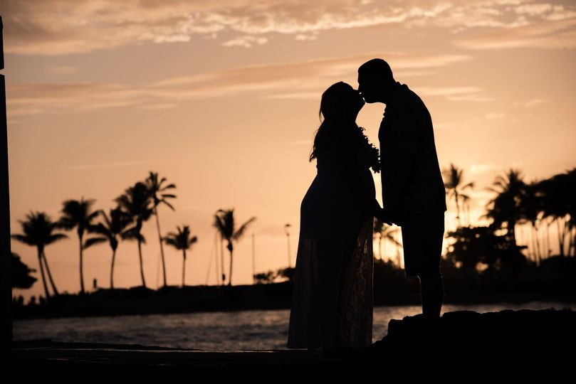 Sunset silhouette at Waikiki