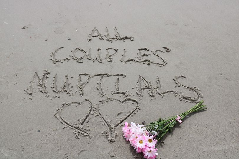 All Couples' Nuptials did a vow renewal ceremony on this beautiful beach in Oak Island NC.