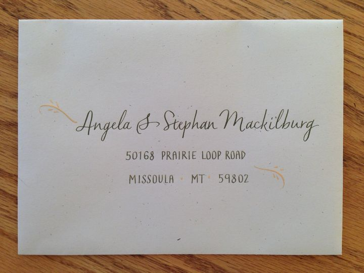 Simple invite with a touch of gold